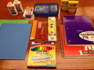 school supplies sample