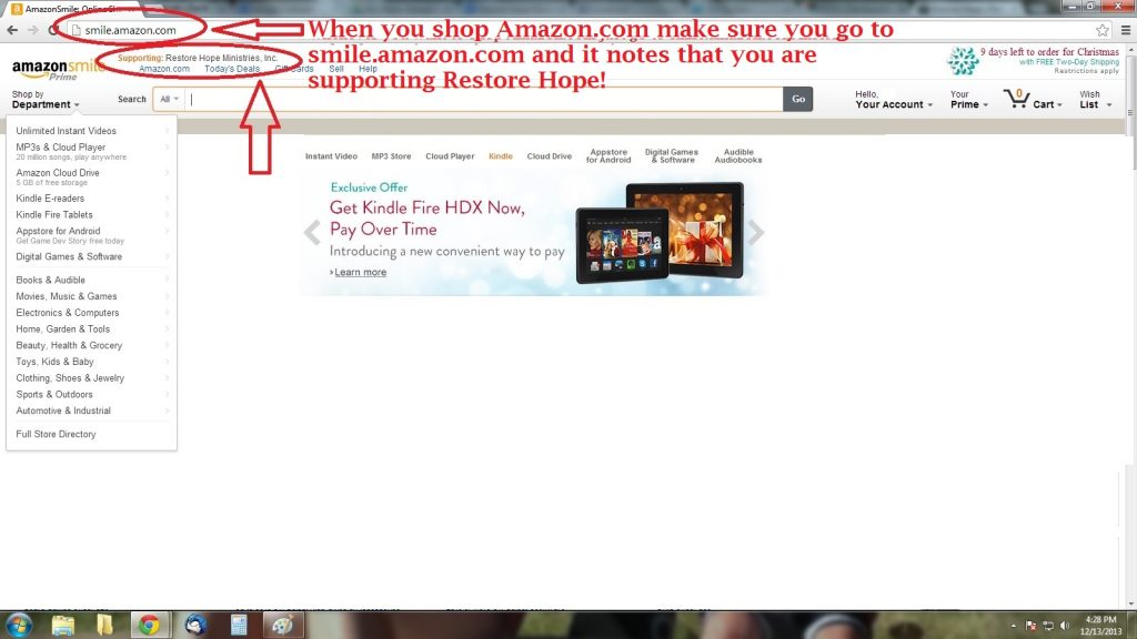 amazon smile step six